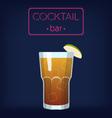 LongIsland Iced Tea Cocktail vector image