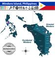 Map of Mindoro island vector image vector image