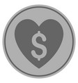 paid love silver coin vector image vector image