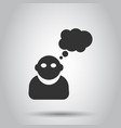 people with speech bubble icon in flat style vector image vector image