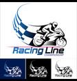 racing line vector image vector image
