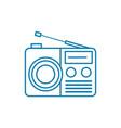 radio set linear icon concept radio set line vector image