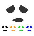 sad emoticon smile icon vector image vector image