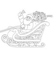 santa claus in a sleigh carrying gifts vector image vector image