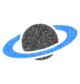 saturn planet flat icon vector image