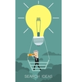 Search Idea Business concept cartoon vector image vector image