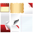 Set of document templates vector image vector image