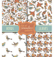 set of seamless nature patterns vector image vector image