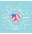 Shining heart flag Star and strip Happy vector image vector image