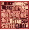 Short City Breaks In Amsterdam text background vector image vector image