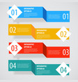 Simple abstract infographics options banner vector image vector image