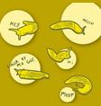 slug sayings vector image vector image