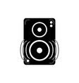 speaker amplifier noise melody sound music vector image