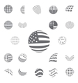 Spherical gray color symbols USA Flag vector image vector image