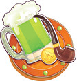 st patrick day symbol the green beer vector image vector image