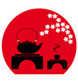 tea ceremony in japanese chinese style vector image