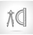 Technical tools flat line icon vector image vector image
