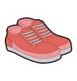 tennis shoes pair icon vector image