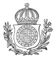 the great seal of brazil is a south american coat vector image vector image