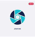 two color aperture icon from electronic stuff