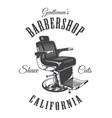 vintage monochrome barbershop logotype vector image vector image