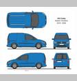 vw caddy kasten trendline 2015-present vector image vector image