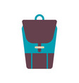 webschool backpack in flat style backpack with vector image