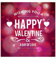 wish you a happy valentines day with hearts vector image