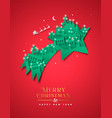 year paper cut star winter city vector image vector image