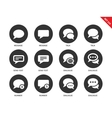 Talking bubble icons on white background vector image