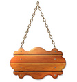 A wooden sign banner vector image