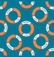 seamless pattern with rescue circle vector image