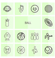 14 ball icons vector image vector image