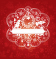 abstract cute ornate christmas card vector image vector image