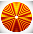 abstract red and orange circle element vector image