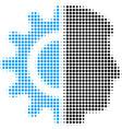 android robotics halftone icon vector image