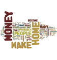 are you ready to make money from home text vector image vector image