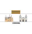 argentina cordoba flat landmarks vector image vector image