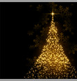 beautiful christmas tree made with sparkles vector image