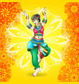 beautiful indian girl dancing vector image vector image
