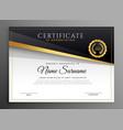 black gold premium certificate of apreciation vector image vector image