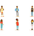 black men and women on a vector image vector image