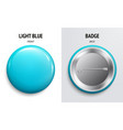 blank light blue glossy badge or button vector image vector image