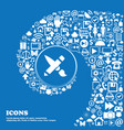 Brush Icon sign Nice set of beautiful icons vector image