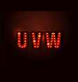 bulb red light font on background vector image vector image