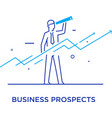 businessman runs forward to success growth charts vector image vector image
