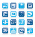 cargo shipping logistics and delivery icons vector image vector image