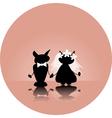 cat wedding vector image vector image