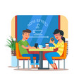 coffee shop design element vector image