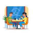 coffee shop design element vector image vector image